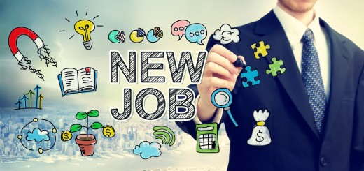 Businessman drawing New Job concept