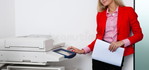 business-woman-working-office-printer-attractive-blond-machine-45367617