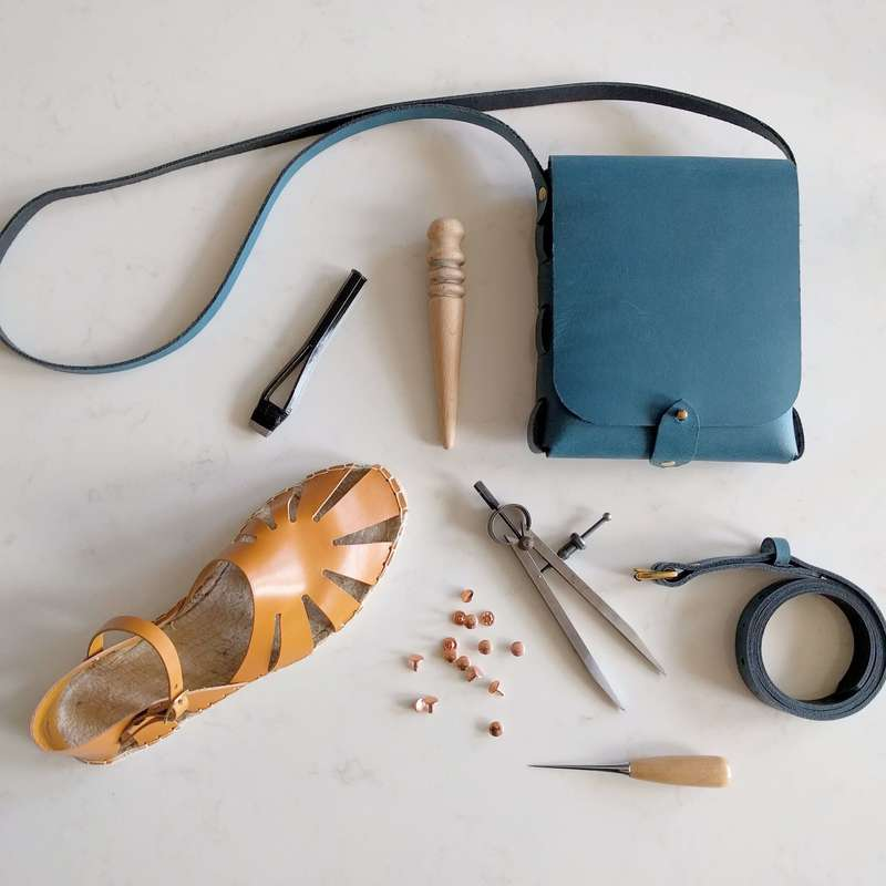 peacock-blue-leather-stitchless-bag-tan-leather-espadrille-leatherwork-tools-belt_orig